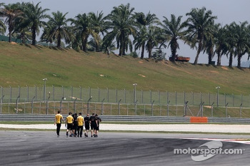 Lotus F1 Team during track walk