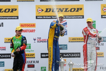 Round 2 Podium Celebrations with Andrew Jordan, Gordon Shedden and Colin Turkington