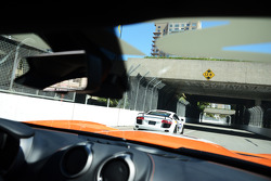 About to pass the Audi R8 in the Dodge Viper