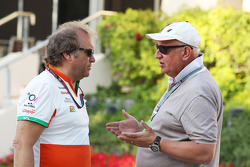 (L to R): Robert Fernley, Sahara Force India F1 Team Deputy Team Principal with Dieter Rencken, Journalist