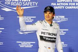 Nico Rosberg, Mercedes AMG F1 W05 celebrates his pole position in parc ferme