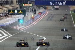 Daniel Ricciardo, Red Bull Racing and Sebastian Vettel, Red Bull Racing  06