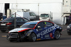 Crash, Tom Coronel, Cevrolet RML Cruze TC1, Roal Motorsport
