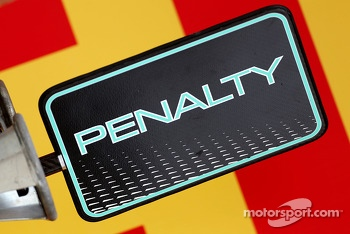 Mercedes GP, penalty board