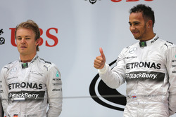 Nico Rosberg, Mercedes AMG F1 Team and Lewis Hamilton, Mercedes AMG F1 Team  20