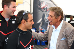 Juan Pablo Montoya with American football legend Joe Namath