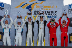 GTLM class podium: winners Jan Magnussen, Antonio Garcia, second place Bill Auberlen, Andy Priaulx, third place Giancarlo Fisichella, Pierre Kaffer