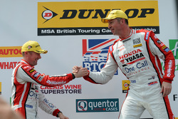 Honda Yuasa Racing duo Matt Neal and Gordon Shedden on the podium