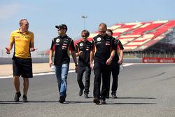 Pastor Maldonado, Lotus F1 Team and Charles Pic, Third Driver, Lotus F1 Team