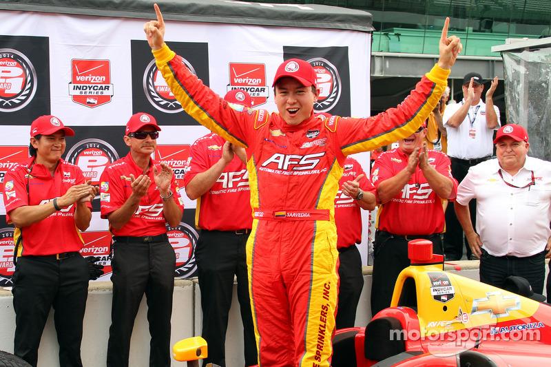 Polesitter Sebastian Saavedra, KV Racing Technology Chevrolet