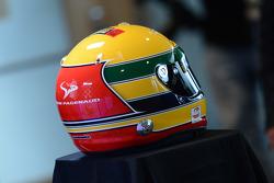 Simon Pagenaud's Ayrton Senna tribute helmet