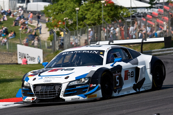 #5 Phoenix Racing Audi Club Team WRT Audi R8 LMS Ultra: Alessandro Latif, Marc Basseng