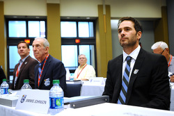 Jimmie Johnson during voting deliberations