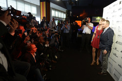 Paddy Lowe, Mercedes AMG F1 Executive Director, with his wife Anna Danshina at the Amber Lounge Fashion Show