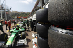 Tyres in the pit lane