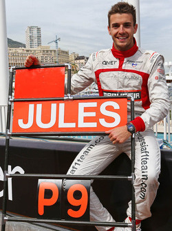 Jules Bianchi, Marussia F1 Team celebrates his and the team's first F1 points