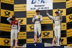 Podium, 2nd Miguel Molina, Audi Sport Team Abt Audi RS 5 DTM, 1st Marco Wittmann, BMW Team RMG BMW M4 DTM, 3rd Bruno Spengler, BMW Team Schnitzer BMW M4 DTM