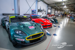 Aston Martin DBR9 GT 2005 and Ferrari 550 Maranello 2004