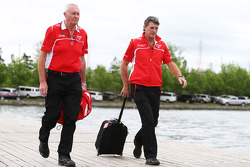 John Booth, Marussia F1 Team Team Principal with Graeme Lowdon, Marussia F1 Team Chief Executive Officer