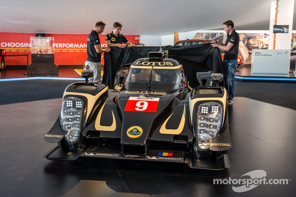 Lotus T129 LMP1 presentation: Pierre Kaffer, Christophe Bouchut and Christijan Albers unveil the new Lotus T129 LMP1