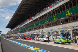 Pit lane before Wednesday practice