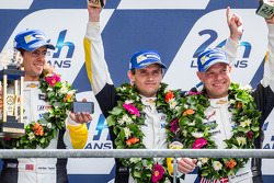 LMGTE Pro podium: second place Jan Magnussen, Antonio Garcia, Jordan Taylor
