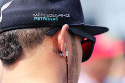 Lewis Hamilton, Mercedes AMG F1 with his 44 tattoo