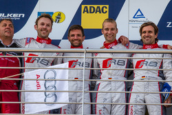 Podium: race winners Christopher Haase, Christian Mamerow, René Rast, Markus Winkelhock