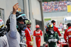 Race winner Nico Rosberg, Mercedes AMG F1 celebrates in parc ferme