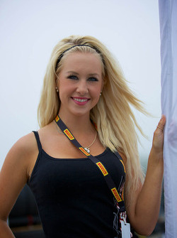 Swisher Racing Flag Girl