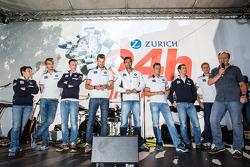 Claudia Hürtgen, Jens Klingmann, Dominik Baumann, Martin Tomczyk, Lucas Luhr, Dirk Müller, Alexander Sims and Dirk Werner
