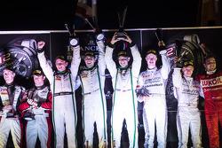 Podium: overall race winners Andy Meyrick, Guy Smith, Steven Kane