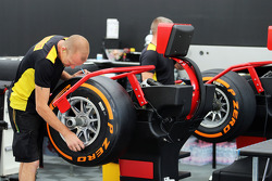Pirelli tyre engineers