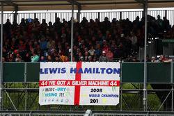 Banner for Lewis Hamilton, Mercedes AMG F1