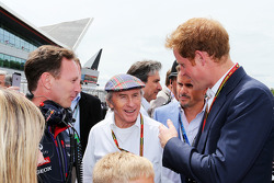 Christian Horner, Red Bull Racing Team Principal with Jackie Stewart, on the grid