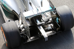 Nico Rosberg, Mercedes AMG F1 W05 rear wing detail