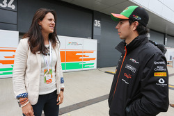 Sergio Perez, Sahara Force India F1 with Hannah White, Broadcaster, Sailor and Adventurer