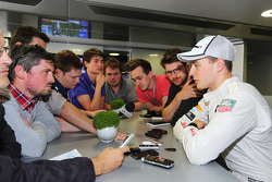 Stoffel Vandoorne, McLaren Test and Reserve Driver with the media