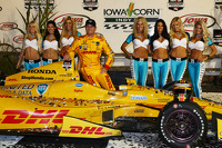 Race winner Ryan Hunter-Reay, Andretti Autosport Honda