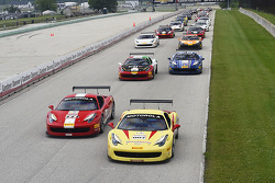 FERRARI: Start: Emmanuel Anassis and Doug Peterson lead the field