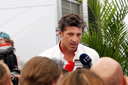 Patrick Dempsey, Actor, taking part in the Porsche Supercup race