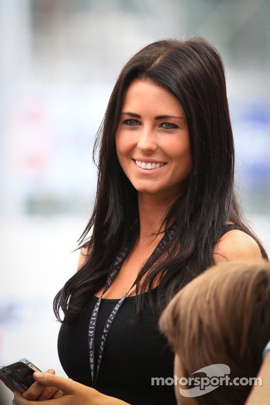 Kirsten Dee, Girlfriend of James Hinchcliffe, Andretti Autosport Honda