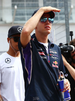 F1: Sebastian Vettel, Red Bull Racing on the drivers parade