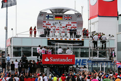 Podium: race winner Nico Rosberg, second place Valtteri Bottas, third place Lewis Hamilton