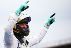 F1: Race winner Nico Rosberg, Mercedes AMG F1 celebrates in parc ferme