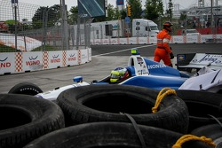 Carlos Huertas, Dale Coyne Racing Honda crashes