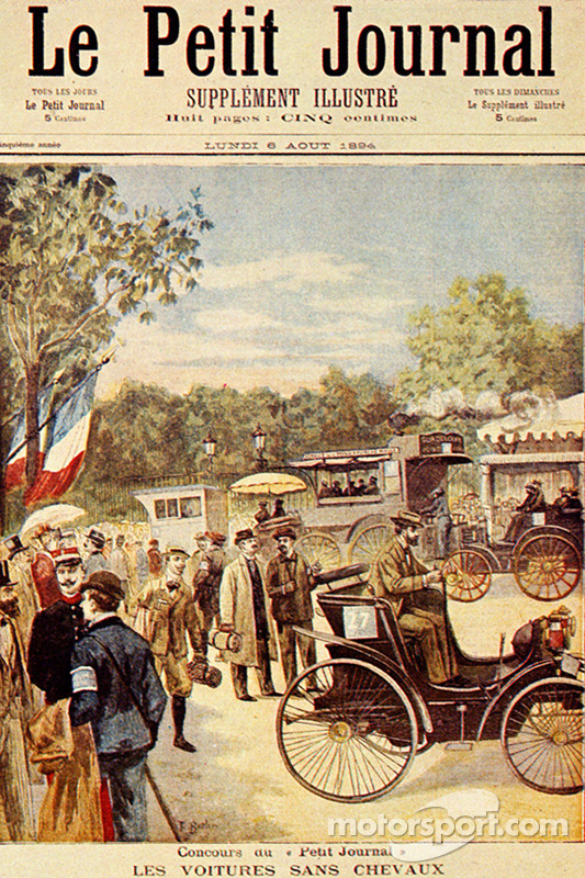Front page of 'Petit Journal' newspaper, dated 5 August 1894, featuring