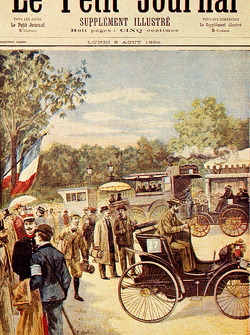 ROADRACING: Front page of 'Petit Journal' newspaper, dated 5 August 1894, featuring