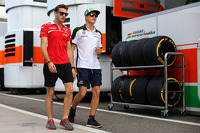 Jules Bianchi, Marussia F1 Team  and Marcus Ericsson, Caterham F1 Team