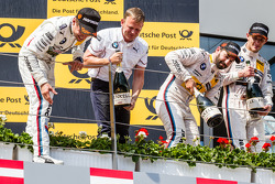 Podium: race winner Marco Wittmann, BMW Team RMG BMW M4 DTM, second place  Augusto Farfus, BMW Team RBM BMW M4 DTM, third place Timo Glock, BMW Team MTEK BMW M4 DTM and BMW Team RBM boss Stefan Reinhold
